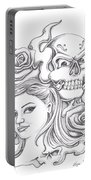Skull And Roses Portable Battery Charger