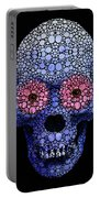 Skull Art - Day Of The Dead 1 Stone Rock'd Portable Battery Charger