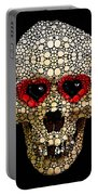 Skull Art - Day Of The Dead 3 Stone Rock'd Portable Battery Charger