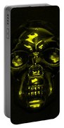 Skull In Yellow Portable Battery Charger