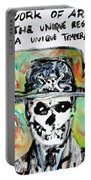 Skull Quoting Oscar Wilde.1 Portable Battery Charger
