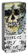 Skull Quoting Oscar Wilde.4 Portable Battery Charger