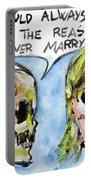 Skull Quoting Oscar Wilde.5 Portable Battery Charger