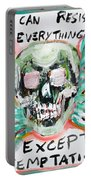 Skull Quoting Oscar Wilde.7 Portable Battery Charger