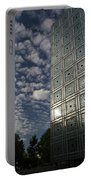 Sky And Building Portable Battery Charger by Gary Eason