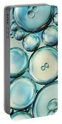 Sky Blue Bubble Abstract Portable Battery Charger by Sharon Johnstone
