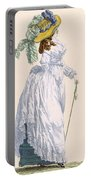 Sky Blue Promenade Dress With Green Portable Battery Charger