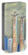 Sky Stations Pylon Caps - Downtown Kansas City Missouri Portable Battery Charger