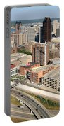 Skyline Aerial Of St. Paul Minnesota Portable Battery Charger