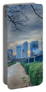 Skyline Of A Big City In South - Charlotte Nc Portable Battery Charger
