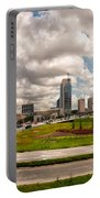 Skyline Of Charlotte Towers Portable Battery Charger