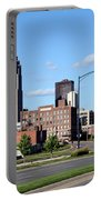 Skyline Of Des Moines Iowa Portable Battery Charger