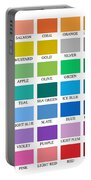 Skyline Series Color Chart Portable Battery Charger