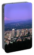 Skylines In A City With Mt Hood Portable Battery Charger