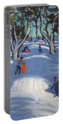 Sledging At Ladmanlow Portable Battery Charger by Andrew Macara