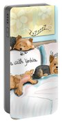 Sleeps With Yorkies Portable Battery Charger