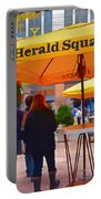 Slice Of Life Nyc-herald Square Portable Battery Charger