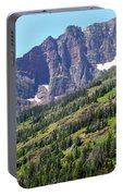 Sloping Mountain At Two Medicine Lake Portable Battery Charger