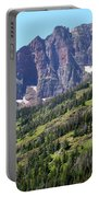Sloping Mountain At Two Medicine Lake Portable Battery Charger by Carol Groenen
