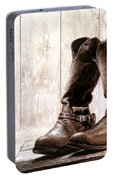 Slouch Cowboy Boots Portable Battery Charger