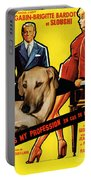 Sloughi Art - Love Is My Profession Movie Poster Portable Battery Charger