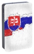 Slovakia Painted Flag Map Portable Battery Charger