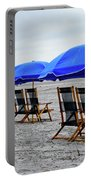 Slow Day At The  Beach Portable Battery Charger