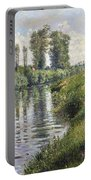 Small Branch Of The Seine At Argenteuil Portable Battery Charger