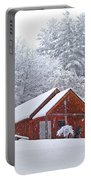 Small Cabin In The Snow Portable Battery Charger