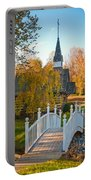 Small Chapel Across The Bridge In Fall Portable Battery Charger