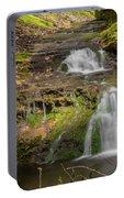 Small Falls At Parfrey's Glen Portable Battery Charger