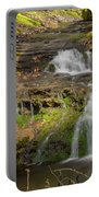 Small Falls At Parfrey's Glen Portable Battery Charger