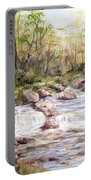 Small Falls In The Forest Portable Battery Charger