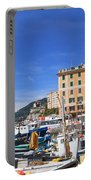 small harbor in Camogli. Italy Portable Battery Charger