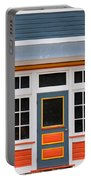 Small Store Front Entrance Colorful Wooden House Portable Battery Charger