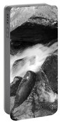 Small Stream Smoky Mountains Bw Portable Battery Charger