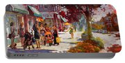 Small Talk In Elmwood Ave Portable Battery Charger