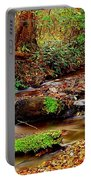 Small Waterfall And Stream 2 Portable Battery Charger