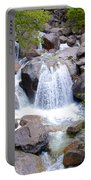 Small Waterfall Near Hwy 120 Roadside In Yosemite Np-ca- 2013 Portable Battery Charger