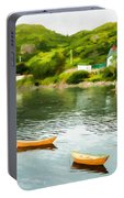 Small Yellow Boats Portable Battery Charger