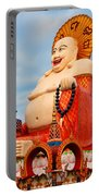 smiling Buddha Portable Battery Charger by Adrian Evans