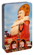 smiling Buddha Portable Battery Charger