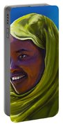 Smiling Lady Portable Battery Charger
