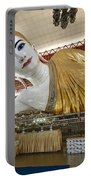 Smiling Reclining Buddha In Yangon Myanmar Portable Battery Charger