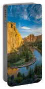 Smith Rock River Bend Portable Battery Charger by Inge Johnsson