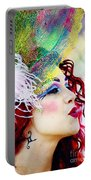 Smoking Redhead Portable Battery Charger