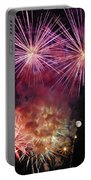 Smoky - Fireworks And Moon Portable Battery Charger
