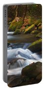 Smoky Mtn Autumn Stream Portable Battery Charger
