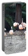 Smudgestick Flamingos Portable Battery Charger