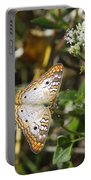 Snack For A White Peacock Butterfly Portable Battery Charger